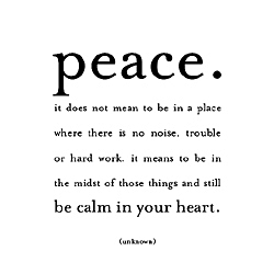 Peace quote magnet