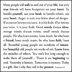 Many People Will Walk In And Out Of Your Life The Infertile Mind